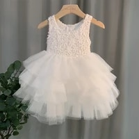 2021 summer girl dresses lace princess floral kids dress party birthday ceremony elegant girl bridesmaid vestido menina 3 8year