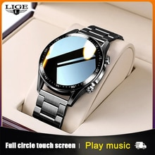 LIGE 2021 New Steel Band Digital Watch Men Sport Watches Electronic LED Male Wrist Watch For Men Clo