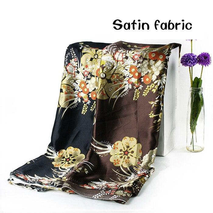 Tela de satén impresa Metro Hanfu tela de cheongsam ropa caja de regalo decoración telas forro abrigo bufandas bufanda diy paño