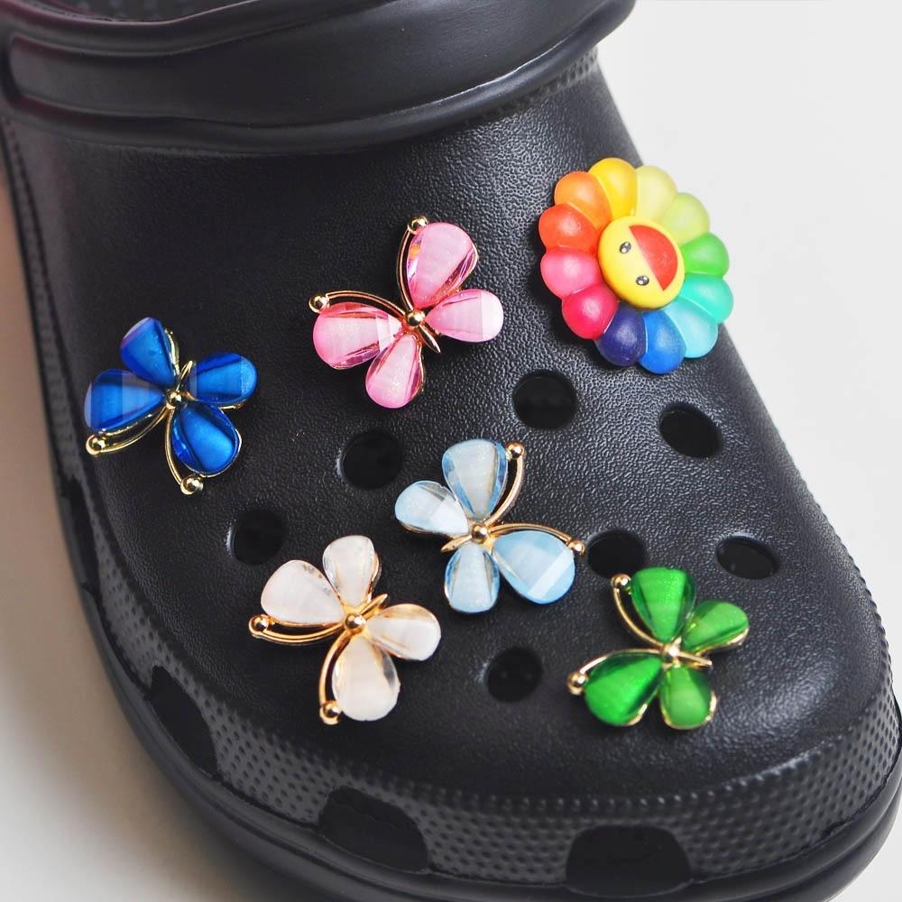 AliExpress - 2021 New Lollipop Butterfly Clog Shoes Charm Soft PVC Custom Colorful Shoe Charm Kid Croc Sandals Accessories Child Party Favors