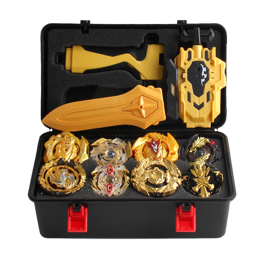 12Pcs Spinning Tops Burst Grip Launcher Arena Schlacht Spielzeug Luxus Sets mit Lagerung Fall-B129 B34 B127 B00 b131 B59 B128 B48