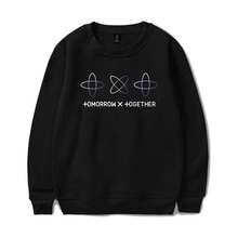 KPOP TXT Printed Sweatshirts Kpop Tomorrow X Together Hoodie Sweatshirt Street Streetwear Tracksuit Tops Oversize Clothes