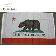 USA California State CA Flag 2ft*3ft (60*90cm) 3ft*5ft (90*150cm) Size Christmas Decorations for Hom