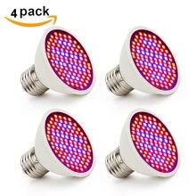 4 pcs/lot LED élèvent la lumière E27 110V 220V 106 LEDs plante ampoule Fitolampy Phyto lampe pour intérieur jardin plante fleur semis éclairage