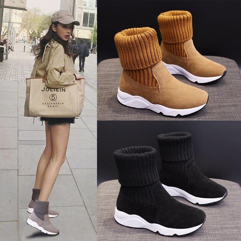 BALENC Australian Style Women's Snow Boots Genuine Leather winter boots warm women boots Knee-high Boots women Walking Shoes
