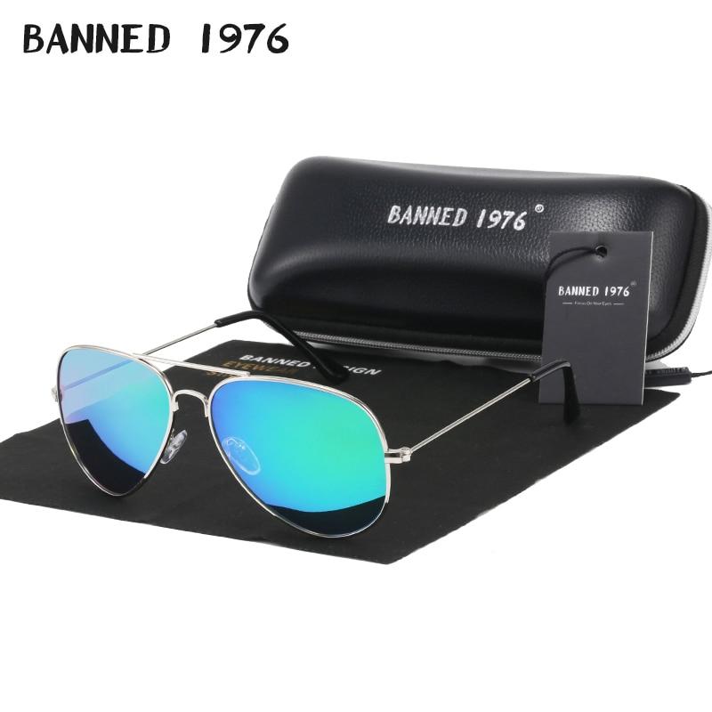 BANNED 1976 Classic HD Polarized Metal frame Aviation Sunglasses Designer Women Men Feminin Brand Na