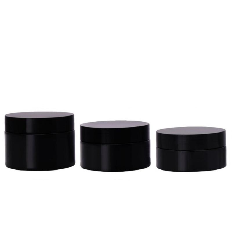 أسود مرطبان بلاستيكي 50 مللي 80 جرام 100 مللي 120 مللي 100 جرام رائجة البيع فارغة قناع التجميل كريم شمع للشعر التعبئة والتغليف حاوية وعاء مع غطاء