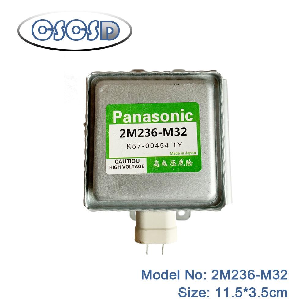 1 unids/lote 11,5*3,5 cm 2M236-M32 para panasonic magnetrón microondas partes magnetrón microondas accesorios para horno microondas