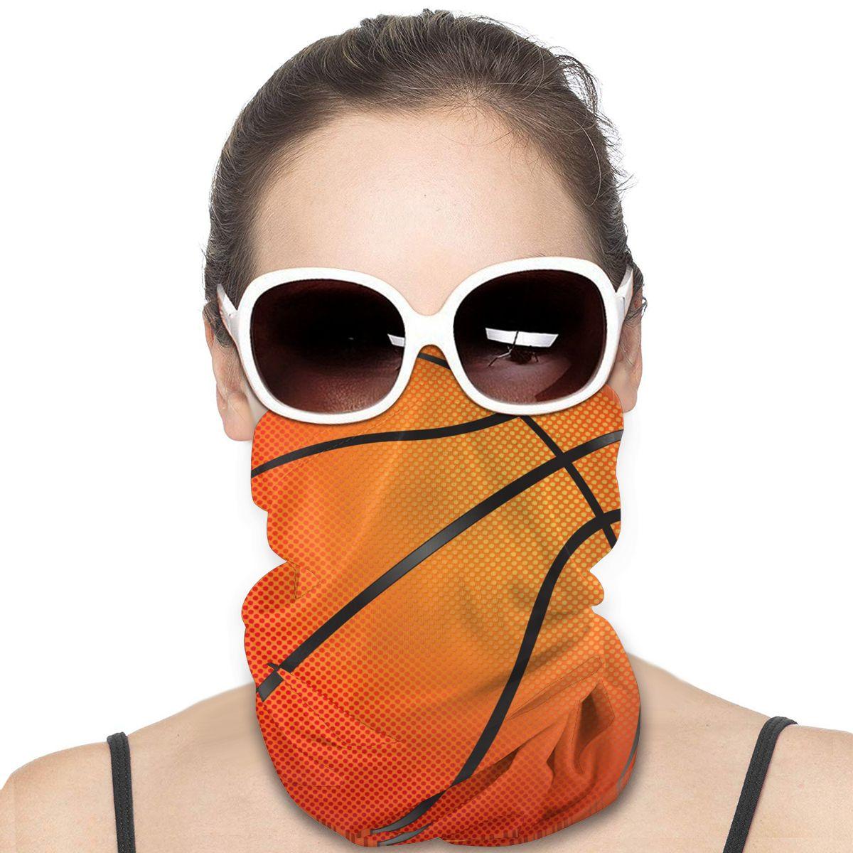 Impresión de baloncesto hombre mujer diadema cuello polaina cubierta ligera protección solar UV protección contra el polvo para exterior