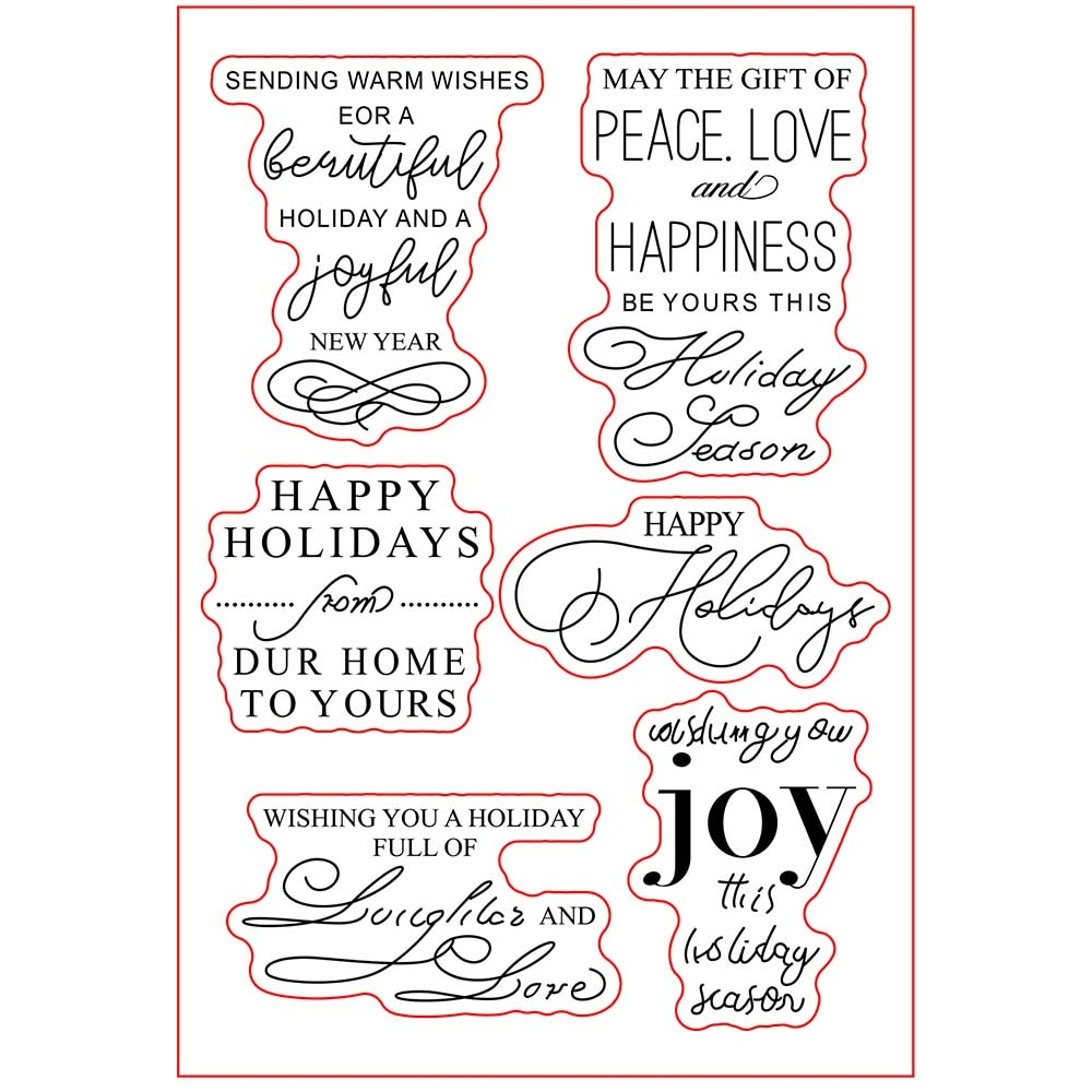 Happy holiday Transparent clear stamp for DIY Scrapbooking/Card Making/Kids Christmas Fun Decoration