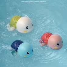 Leuke Cartoon Dier Tortoise Classic Baby Water Speelgoed Grappige Zuigeling Zwemmen Schildpad Wond-Up Keten Clockwork Strand Baden Speelgoed gift