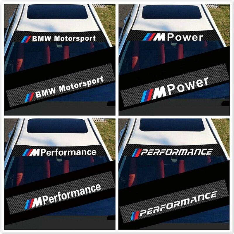 Parabrisas del coche etiqueta coche exterior modificación para BMW E30 E36 E60 E46 E90 E71 E87 M3 M5 X1 X3 X4 x5 X6 pegatinas Accesorios