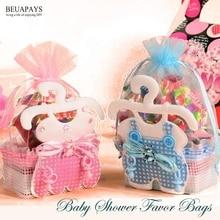 Sacs à faveur pour réception-cadeau pour bébé   Bouteilles de sucre, boîtes à bonbons, accessoires pour fête anniversaire, it a boy, it a girl