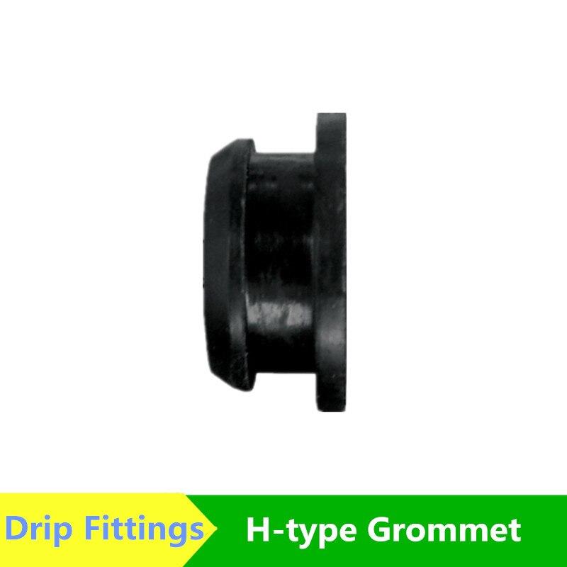 Dn16 H-тип втулка двойная губа втулка резиновое кольцо Driptape LDPE трубка капельного микро орошения капельные фитинги полипропиленовый шланг фит...