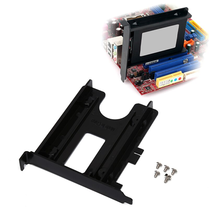 Ranura PCI 2,5 pulgadas HDD SSD Panel trasero soporte de montaje adaptador...