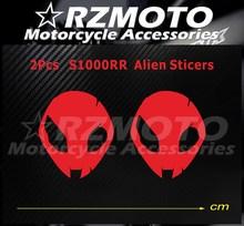 Nowy pasuje do BMW S1000RR HP4 głowa obcego naklejka motocyklowa naklejka z Logo Pad Fairing kolor DIY RZMOTO czerwony