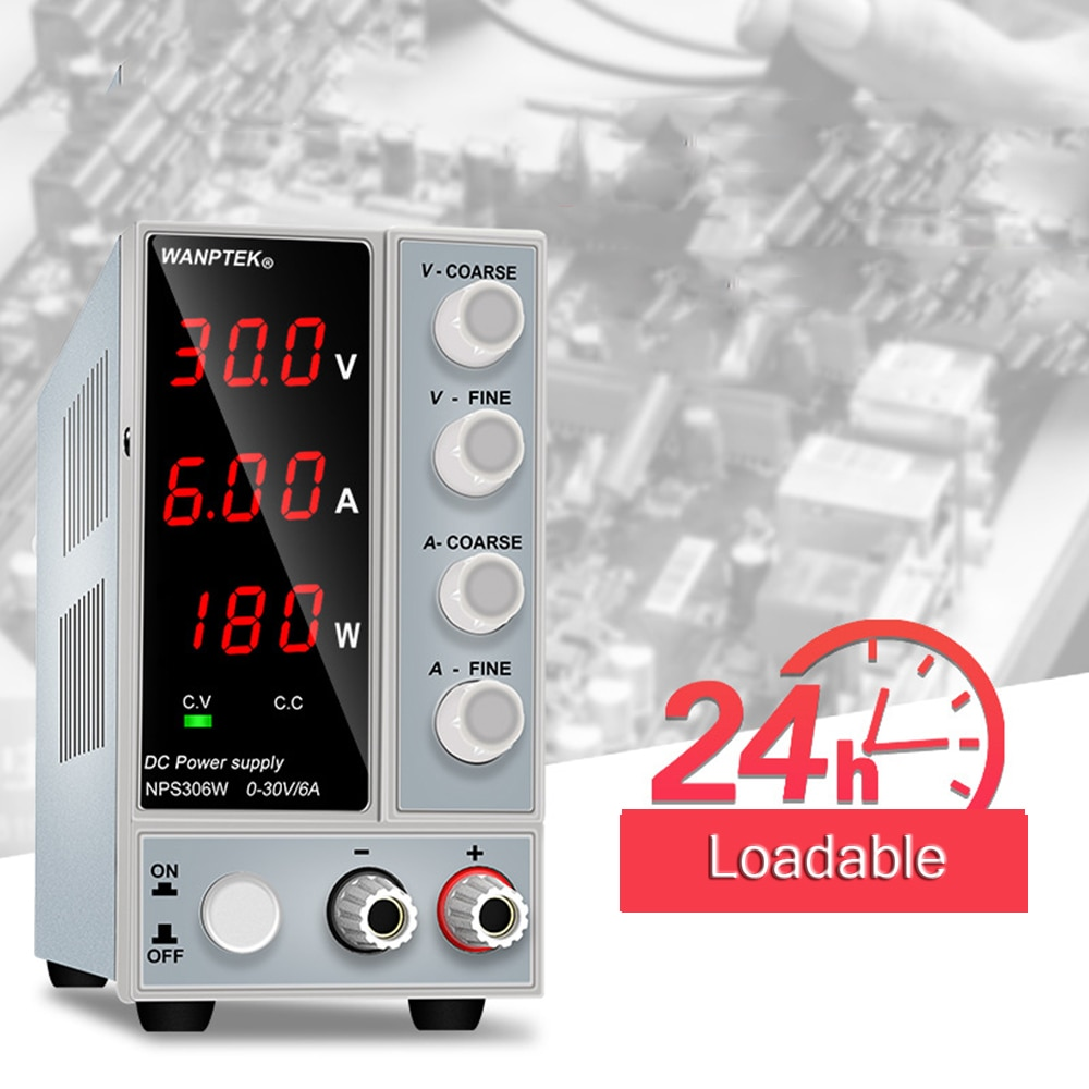 DC Power Supply 30V 6A Adjustable Power Supply Mobile Phone Notebook Repair Tools NPS306W nps306w laboratory switching power supply 30v 6a variable dc stabilized power supply 0 1v 0 01a 180w electroplating power supply