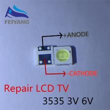 100pcs 2W 6V 3535 TV 백라이트 LED 3V SMD 다이오드 쿨 화이트 LCD TV 백라이트 Televisao TV 백라이트 Diod 램프 수리 응용 프로그램
