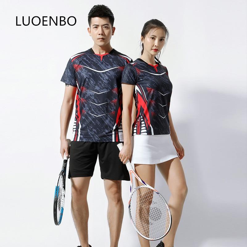 Traje deportivo profesional 2020, kits de tenis de mesa transpirables, camiseta de uniforme de manga corta, falda de tenis, camisetas de bádminton, traje de Bádminton