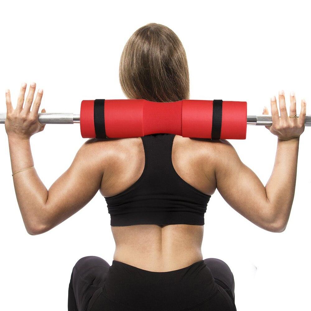 Segurança agachamento esponja barbell almofada protetor ginásio levantamento de peso pescoço ombro suporte de fitness pescoço hip push bar protector com alça