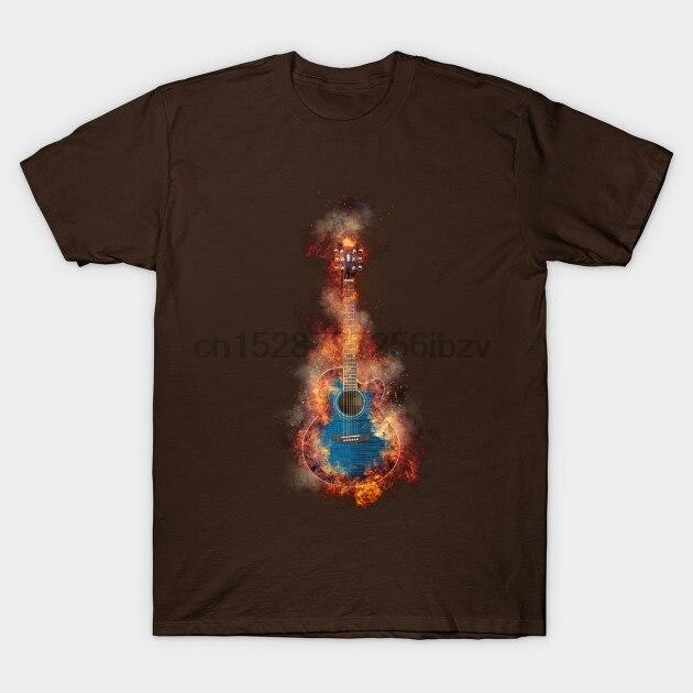 Men tshirt  Jumbo Blue Flaming Guitar   Song   T Shirt Printed T-Shirt tees top