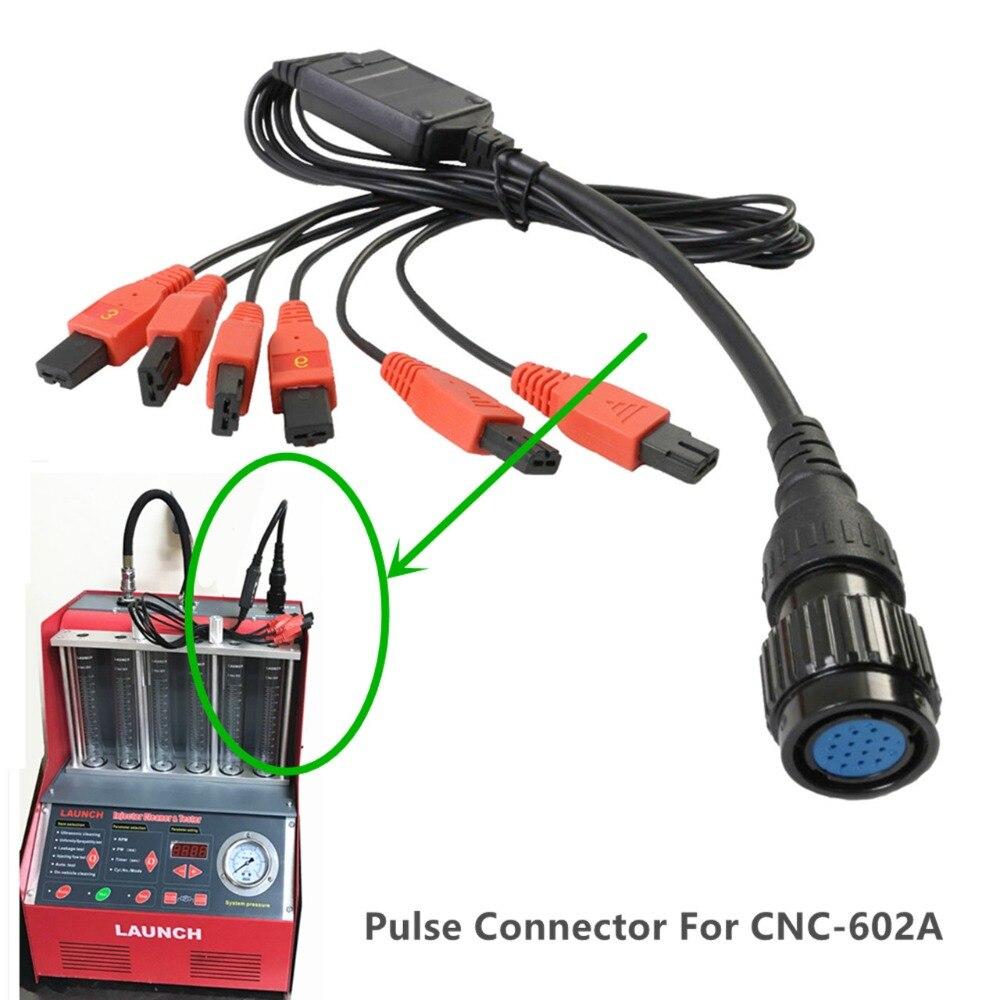 Cable de conexión de pulso especial Original de fábrica 1 a 6 cable de señal de prueba de inyector para el lanzamiento CNC602A limpiador para inyectores y probador