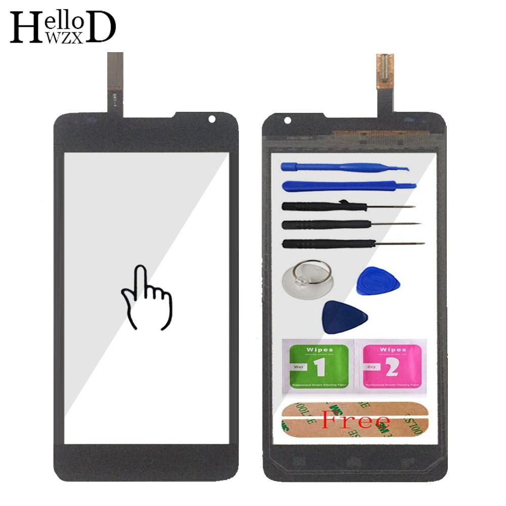 "Pantalla táctil para Huawei Ascend Y530 530 pantalla táctil cristal lente digitalizador Panel parte 4,5 ""vidrio frontal herramientas adhesivas"