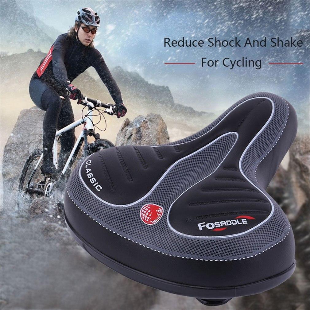 Confortável grande vagabundo bicicleta gel cruiser extra desportivo macio almofada sela assento adequado para qualquer tipo