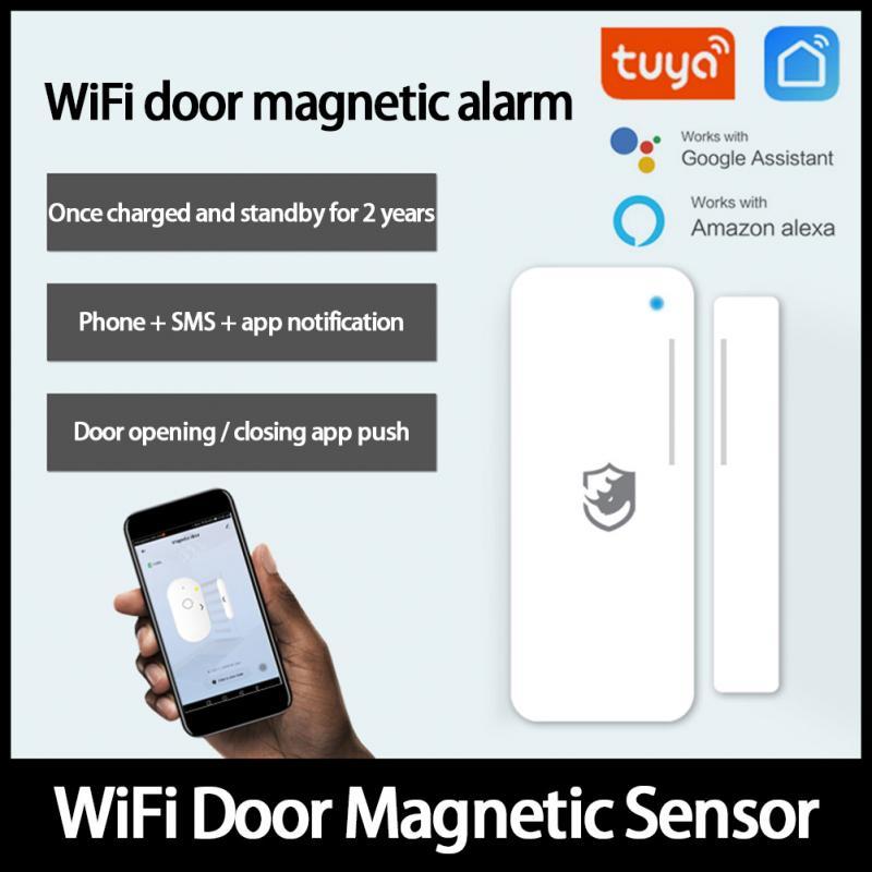 Смарт-детекторы внешней сигнализации Tuya, двери и окна, открытые/Закрытые детекторы, работает с приложением Tuya Alexa