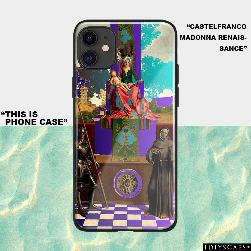 Funda de teléfono de silicona suave de cristal de arte renacentista de Castelfranco para IPhone SE 6s 7 8 Plus X XR XS 11 Pro Max