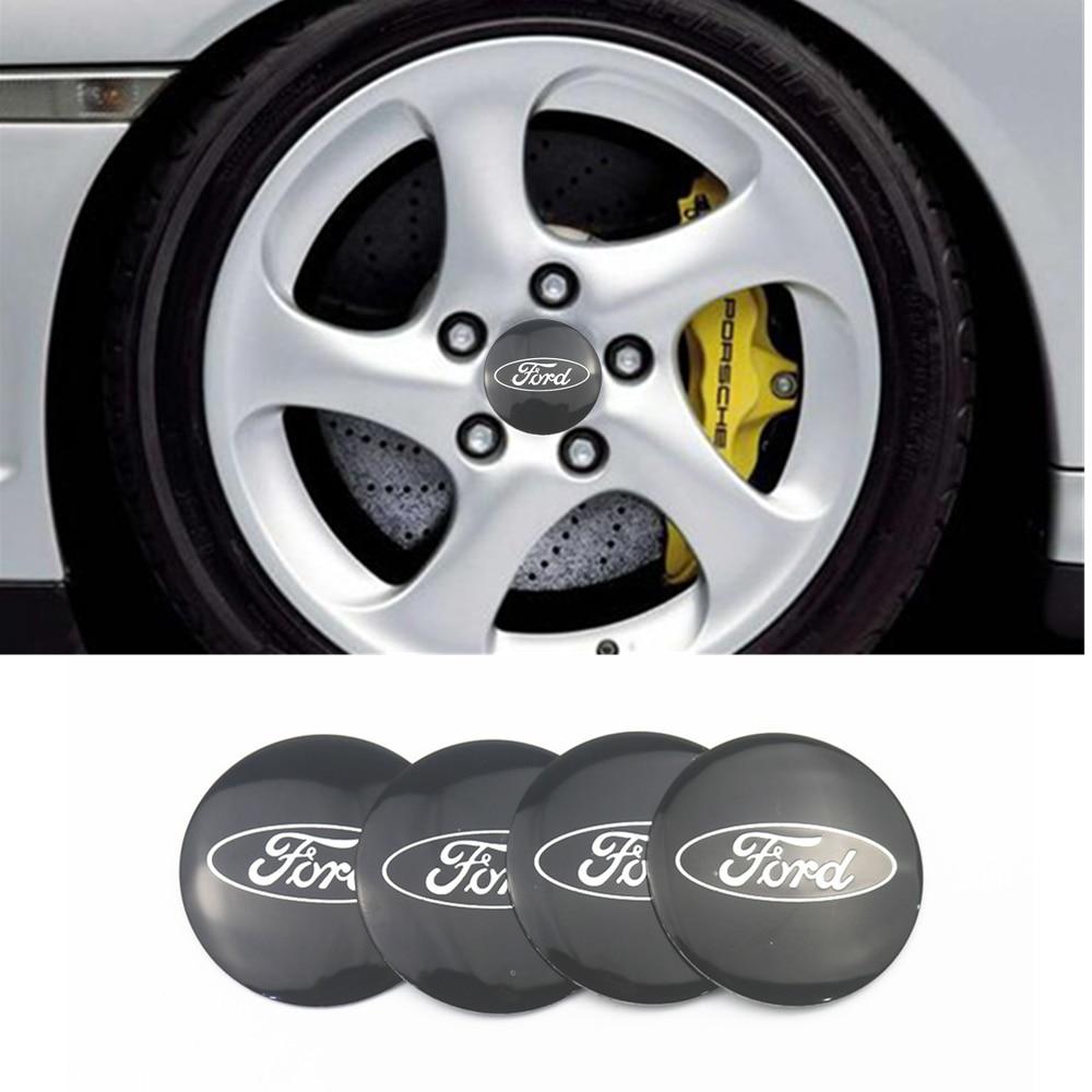 Estilismo para automóviles, 4 Uds. 56M, tapas de cubo de rueda para neumático de coche, pegatina decorativa para Ford Fiesta EcoSport ESCORT focus 1 focus 3 focus