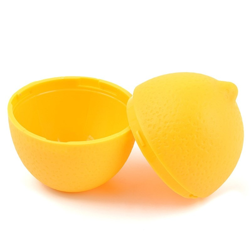 Caja para almacenamiento fresco creativo, recipiente de plástico con forma de bulbo para guardar limón y Lima, surtido para nevera de cocina