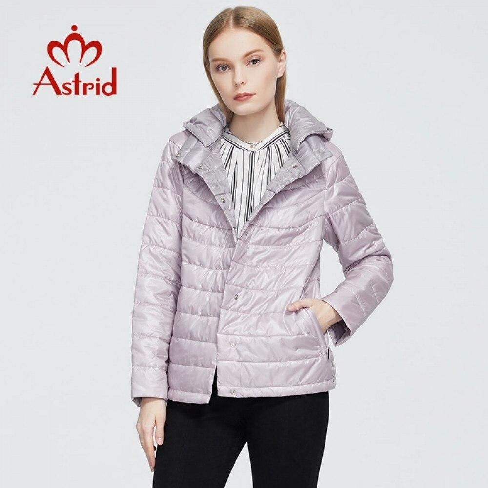 معطف نسائي جديد موضة 2021 من Astrid موضة خريف وشتاء مضاد للرياح جاكيت رقيق بقلنسوة ملابس نسائية تصميم جديد 9439