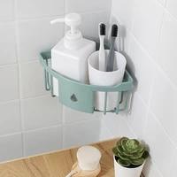 plastic wall mounted bathroom storage shelves kitchen storage organizer corner shampoo and shower gel shelf holder rack box