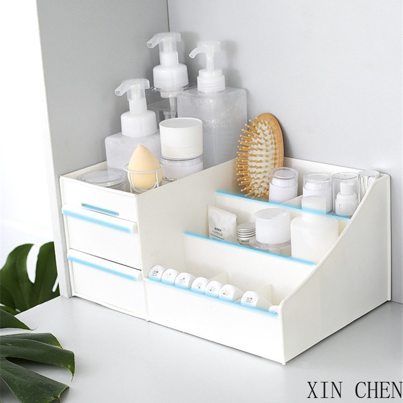 Drawer Organizers Capacity Makeup Organizer Cosmetic Bathroom Organizer Makeup Box Storage Containers Jewlery Box make up