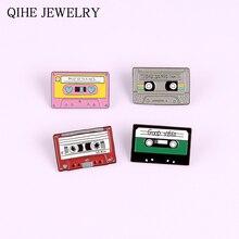 90s Magnetische Tape Emaille Pin Goede Vibes Sad Songs Muziek Liefhebbers Badge Bag Kleding Revers Pin Gift Voor Vrouw Man vintage Sieraden