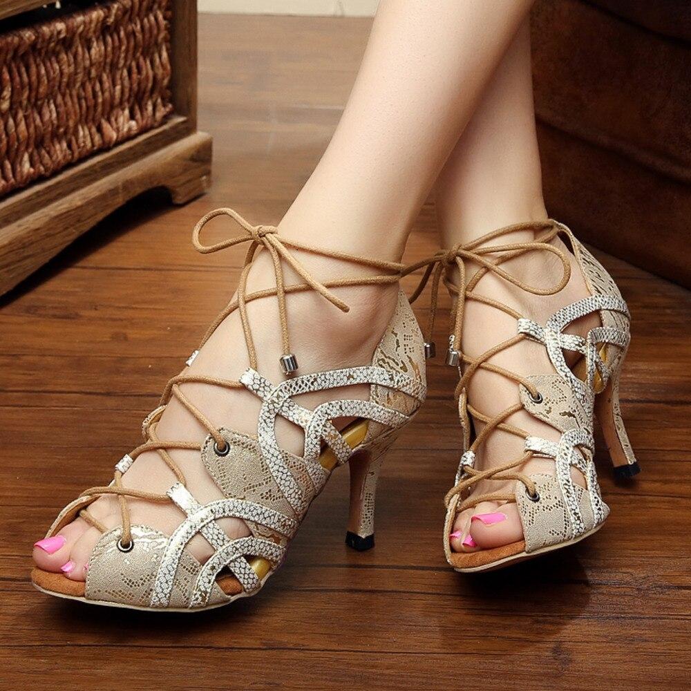 Trending jazz salsa ballroom latina sapatos de dança para a dança treinamento feminino sexy tango linha dança pointe 5017 verão sandálias