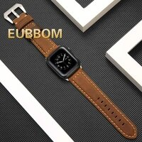 uxury classic cuff bracelet belt for apple watch 42mm 38mm band genuine leather strap for iwatch 40mm 44mm band series 6 5 4 3 2