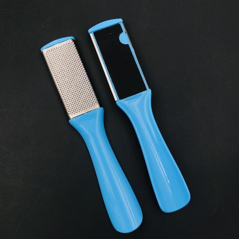 Dupla face pé rasp removedor pedicure tamanho grande pés calcanhar arquivo cutícula remover morto pele limpa saúde pés cuidados ferramenta