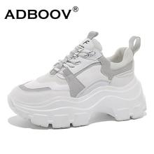 ADBOOV nouvelle semelle épaisse 7 CM baskets grosses femmes Zapatillas Mujer plate-forme décontracté chaussures femme Trampki Damskie