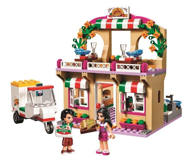 Freunde Serie 310 atrapado morir Heartlake pizzería Modell Bausteine Geschenke Kinder Kompatibel Legoinglys