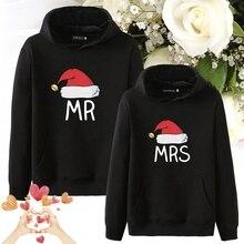Couples Hoodies pulls décontractés Cadeau MR MRS Noël Chapeau sweatshirts à capuche de couple Sweat À Capuche Femmes Hommes Amoureux Sweat Amoureux