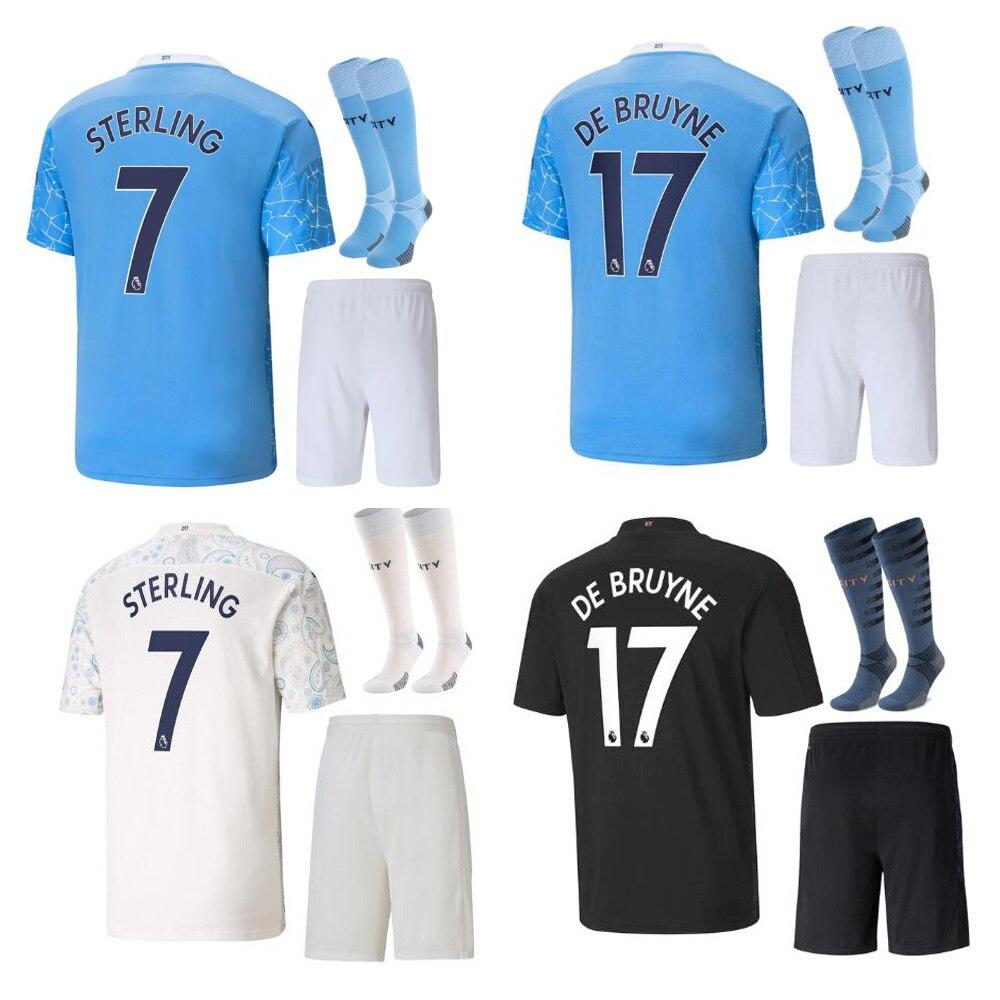 Man Customize adults kit 2020-21 Manchester kids soccer jersey City home away third football shirt DE BRUYNE FODEN