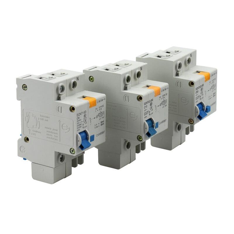 1P 6A 10A 16A 20A 25A 32A 40A 50A 63A interruptor miniatura 230 V/400 V cortocircuito/sobrecarga eléctrica/Disyuntor de fugas
