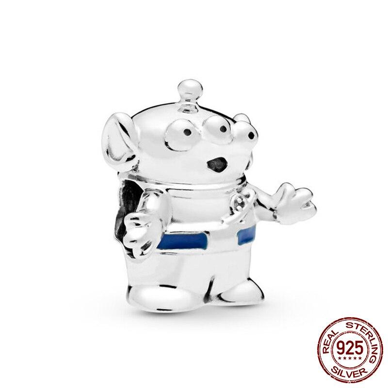 Auténtico 100% cuentas de plata esterlina 925 Pixar Alien de Toy Story encanto fit Original Pandora pulseras de las mujeres de la joyería de DIY