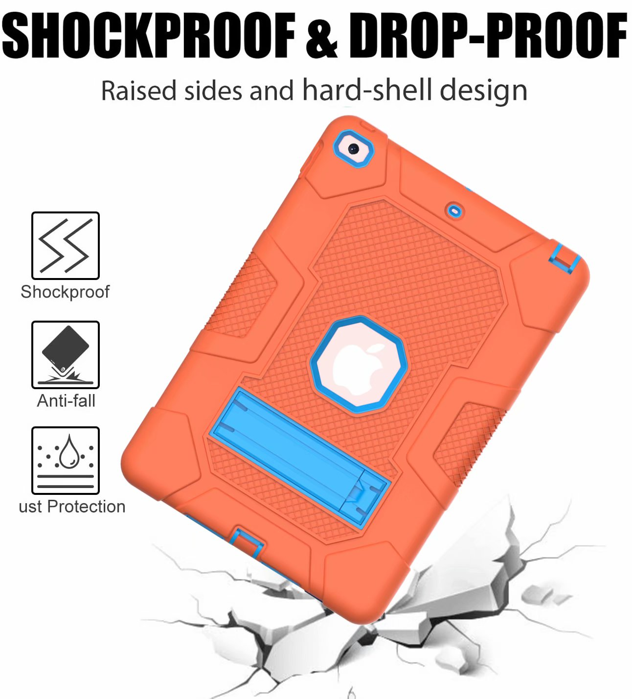 for PC Rugged Shockproof Heavy Hard 8th Duty 7th Hybrid Case Generation Armor 10.2 iPad