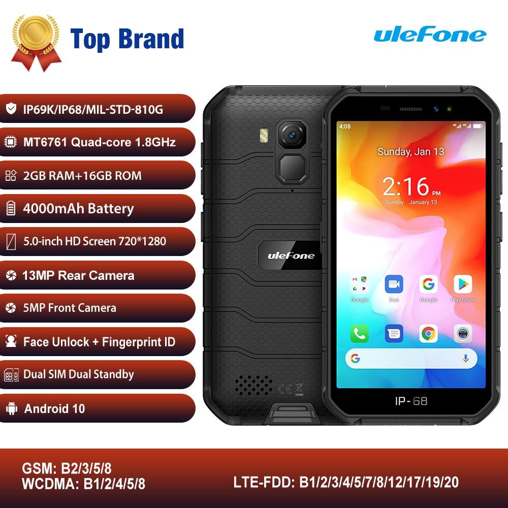 NFC Global 4G LTE мобильный телефон Ulefone Armor X7 Android 10 прочный смартфон IP68 водонепроницаемый сотовый телефон 2 Гб 16 Гб четырехъядерный