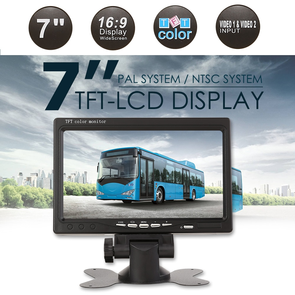 7 inch LCD Car Monitor USB TF Card Video Player for Reverse Rearview Camera DVD Classic Car Vehicle Accessaries Supplies