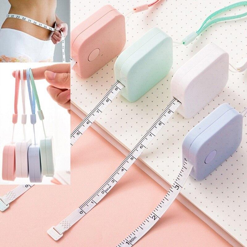 Cinta métrica portátil retráctil de 150 cm/Regla 60 pulgadas de altura para niños centimetro pulgada rollo de cinta para chicas regalos color al azar