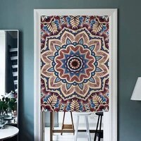 exotic colored cotton linen door curtain national style porch partition kitchen curtain bathroom hanging half panel curtain